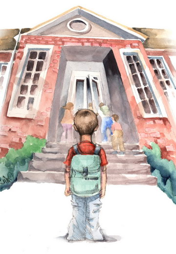 Art for story on kids first day back to school